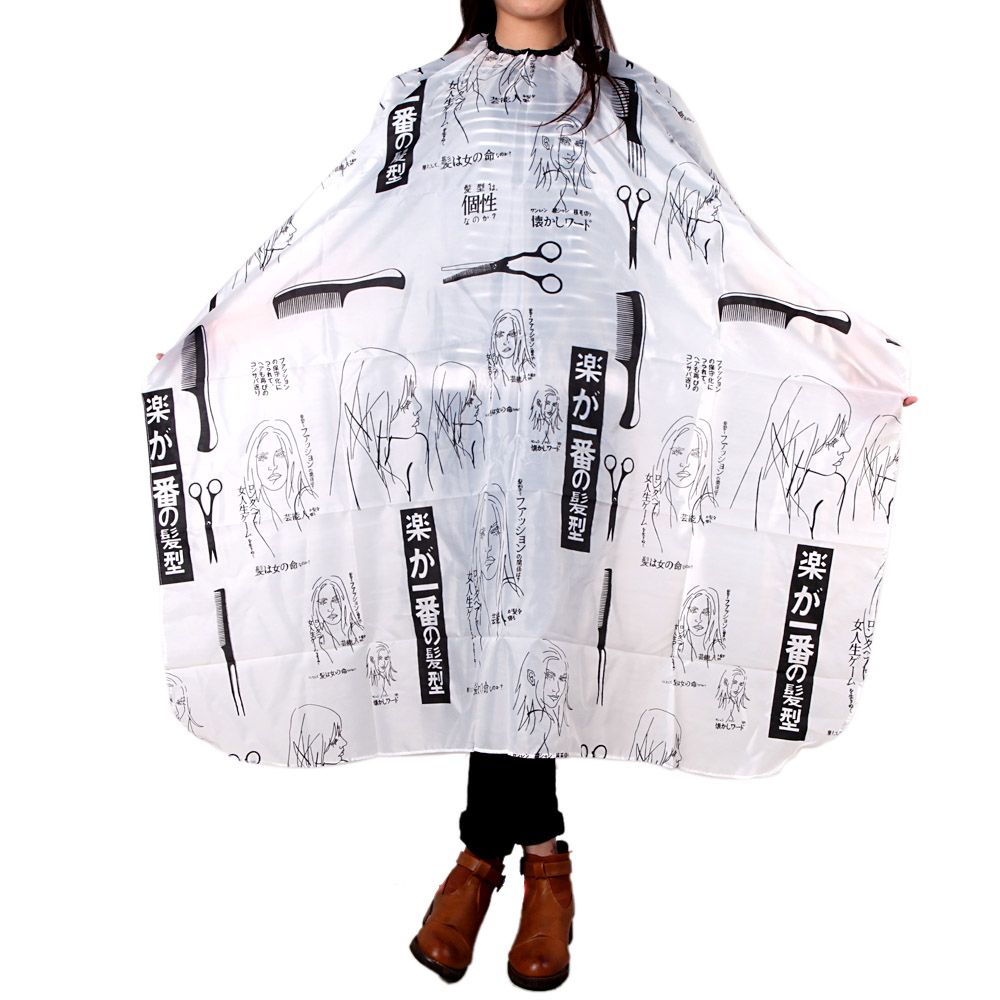 Barber Hairdressing Cape Hair Cutting Salon Apron for Haircut Hairdresser Apron Cloth Styling Tools Hairdressing Cape Black(China (Mainland))