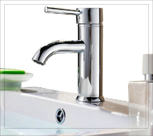 """Bathroom faucet, hot and cold tap mixer, brass construction, with a pair of 20"""" water supply hose, chrome finished touch faucet(China (Mainland))"""