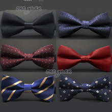Hot sale 2015 Formal commercial bow tie butterfly cravat bowtie male solid color marriage bow ties for men Formal business(China (Mainland))