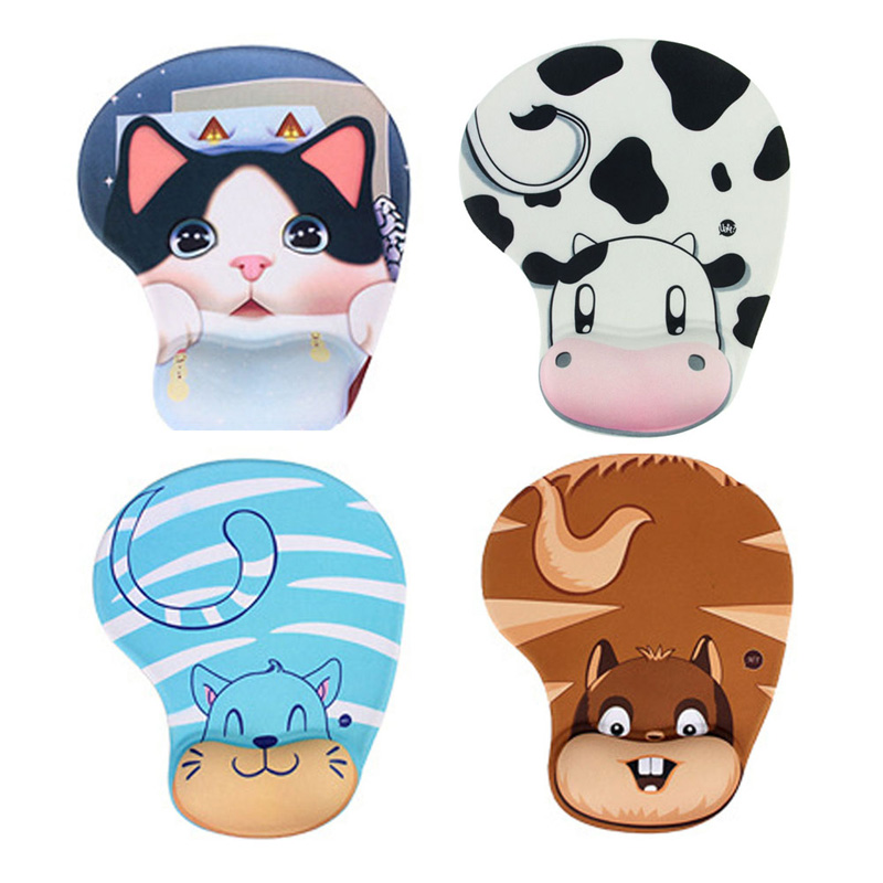 Practical Lovely Animal Skid Resistance Memory Foam Comfort Wrist Rest Support Mouse Pad Mice Pad(China (Mainland))