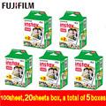 2017 new Original 20 box Fujifilm Fuji Instax Mini White Film 100 Sheets Instant Photo Paper