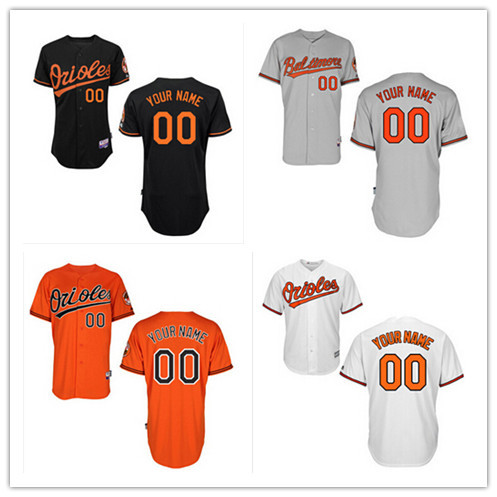 Free shipping Cheap Men's custom Baltimore Orioles jersey Personalized Black Red White Baseball Customized jerseys,Mix Order(China (Mainland))