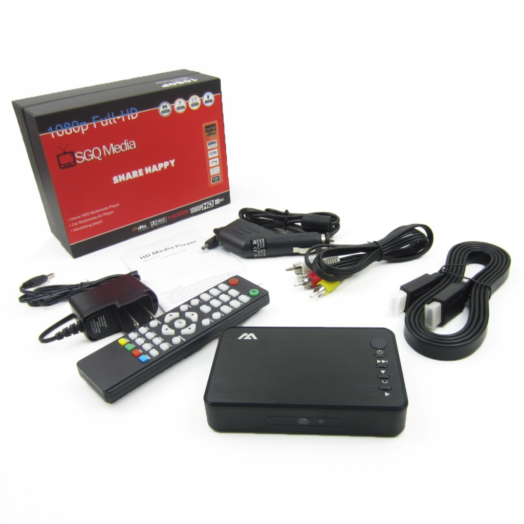 MP023 Plus 1920X1080 SGQ Media Mini Full HD 1080P Media HDD Car Player with HDMI VGA AV USB SD MMC Optical Output(China (Mainland))
