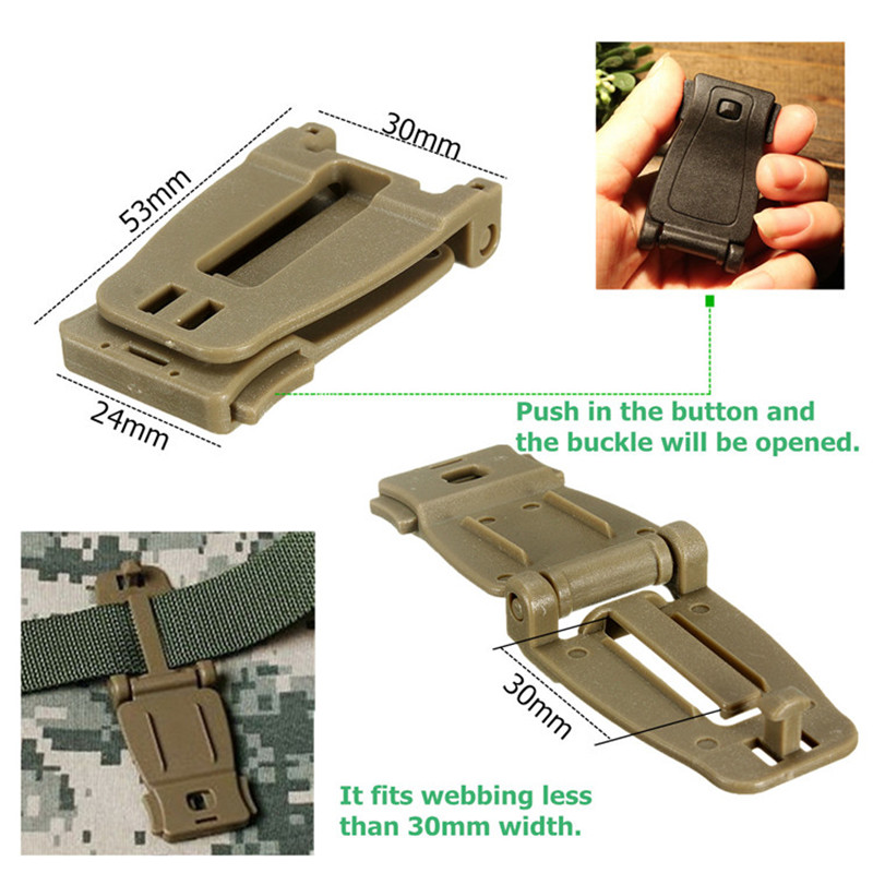 1Pcs 2015 Hot Sale Newest Molle Strap Backpack Bag Webbing Connecting Buckle Clip 26mm Strong High Quality(China (Mainland))