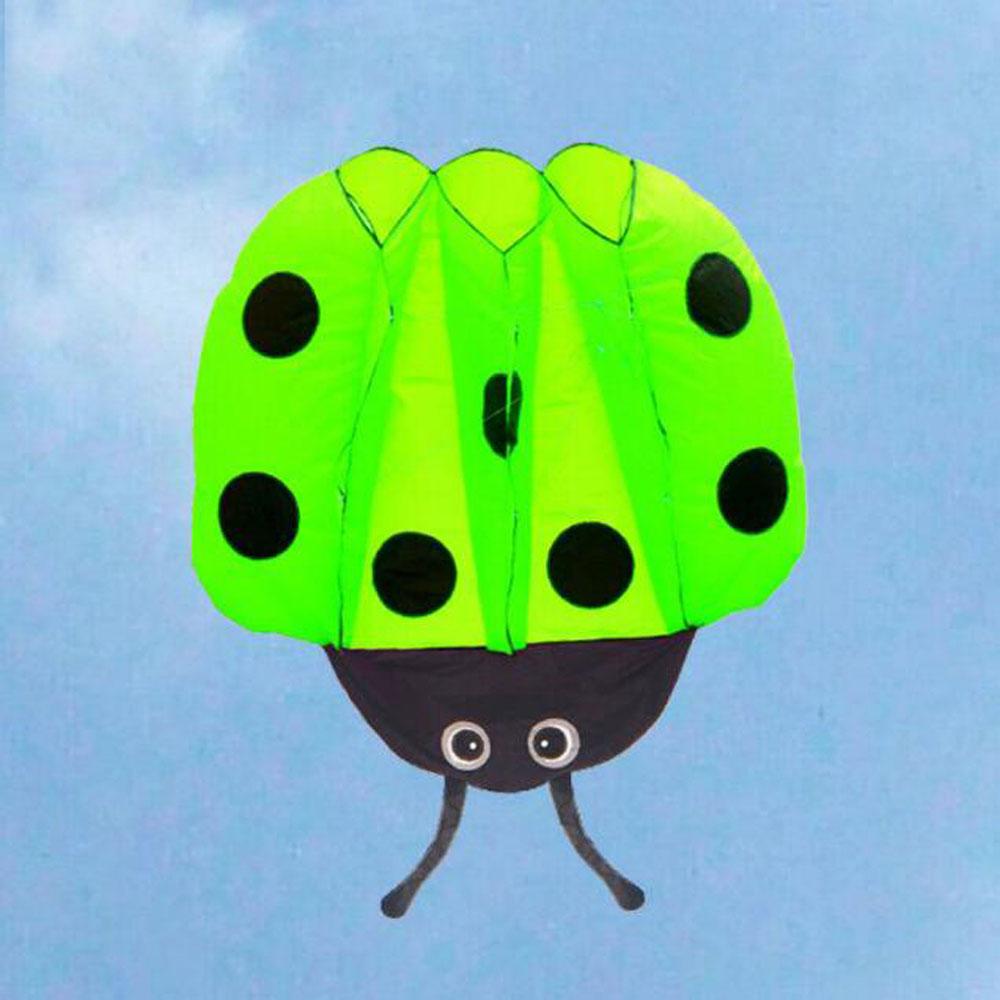 ladybug kites+30m line bright 190T plaid cloth beach kite toys kitesurf tail kite good quality sports kitesurfing pipas voadores(China (Mainland))