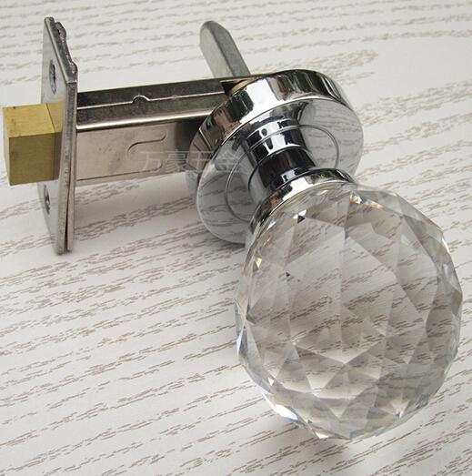 Solid crystal handle single hidden dark locks/contact locks lock/background wall Crystal invisible door lock Reporting center(China (Mainland))