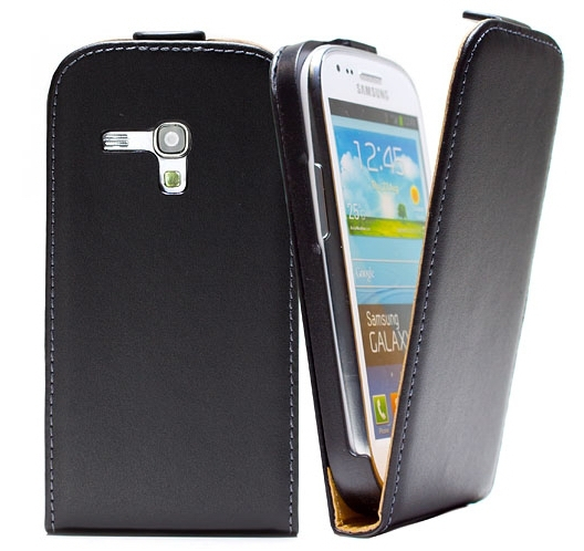 Geniune Flip luxury leather case Samsung Galaxy S3 mini GT-I8190 i8190 Flipcover 11 Colors Available + Free Screen Protector
