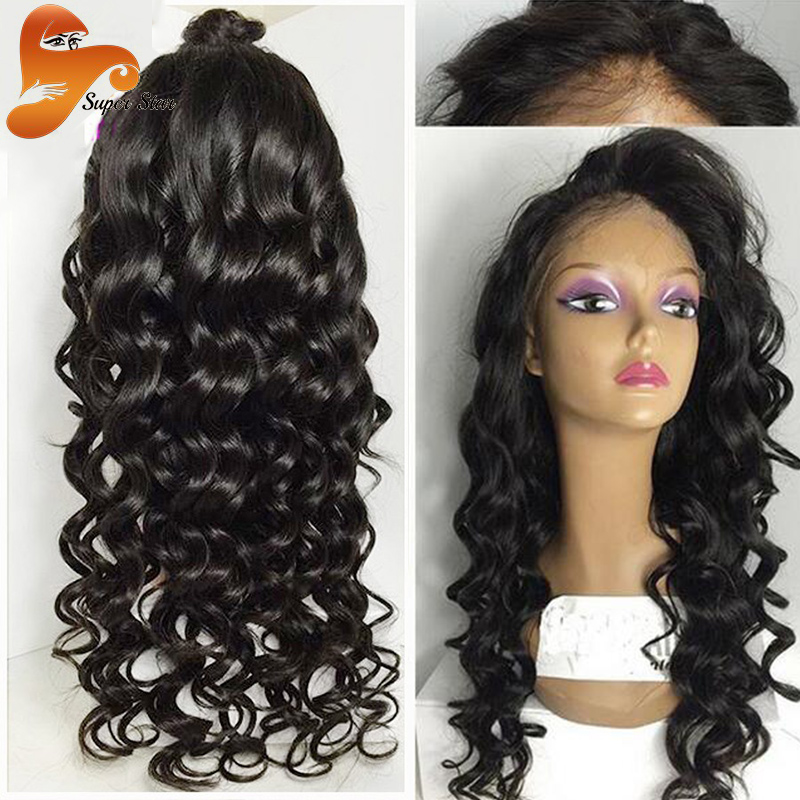 Brazilian Full Lace Human Hair Wigs For Black Women Virgin Hair Glueless Full Lace Wigs With Baby Hair,Deep Curly Lace Front Wig<br><br>Aliexpress