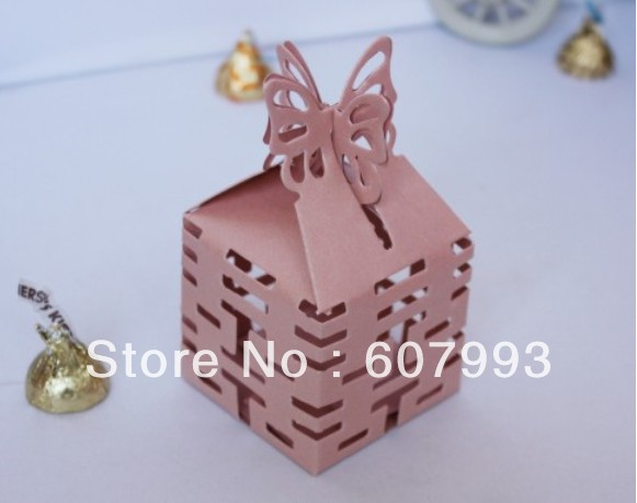 Wedding favor box Butterfly Double Happiness Candy packaging, gifts chocolate box ,paper candy box Free shipping(China (Mainland))