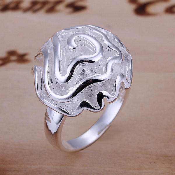 Hot Sale! R005 High Quality Rose Ring Factory Price  Free Shipping 925 Silver Fashion Jewelry