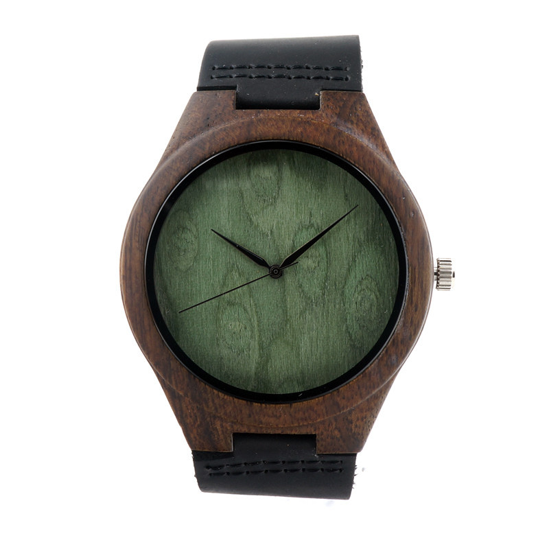 Top Fashion Bamboo Wooden Watches Men's Luxulry Watch Leather Band Quartz Women - ShenZhen GlobalPower Industry Co., LTD. store
