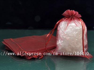 """5""""X7"""" Pure Magenta Organza Bags Jewelry Boxes Gift Bags Festival Favor Wedding Favor Suppliers(China (Mainland))"""