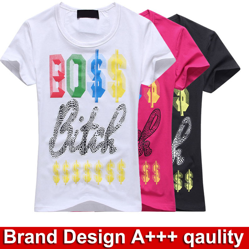 Famous brand new short sloove t shirts women fashion for Designer tee shirts womens