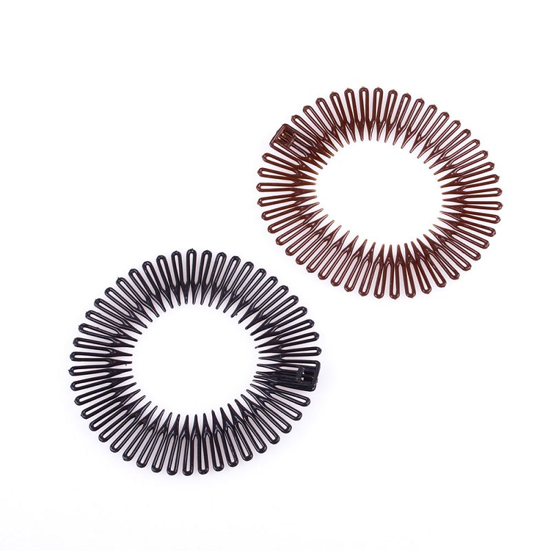 new fashion women Sport Plastic Stretch Hair Band Full Circle Flexible Comb Teeth Headband Clip Accessories for girls #40988(China (Mainland))