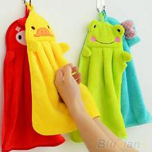 Nursery Hand Towel Soft Plush Fabric Cartoon Animal Hanging Wipe Bathing Towel(China (Mainland))