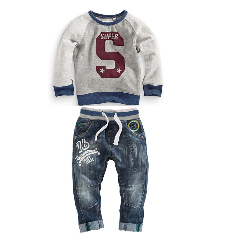 [ Humor Bear ] Kids Clothing Sets Long Sleeve T-Shirt + Pants, Autumn Spring Children's Sports Suit Boys Clothes - official store