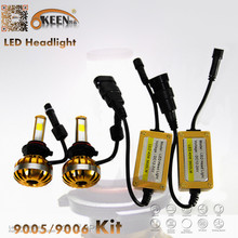 40W 3600Lm IP65 Car Motorcycle LED Headlight Kit 6000K White Bulb H1 H3 H4 H7 9005 9006 Epistar COB Aluminum Fan Low High Beam - OKEEN official store