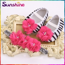 Zebra Girl Rhinestone Baby shoes Rhinestone headband set,Vintage kids shoes,flower newborn baby girl shoes #2T0009 3 set/lot(China (Mainland))