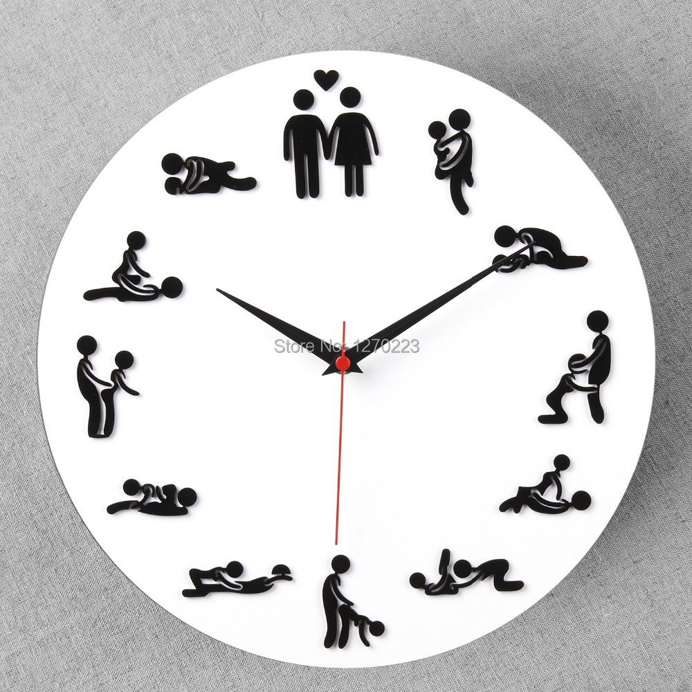 Foever Love Wall Clock Best Creative home decor Sexy lady