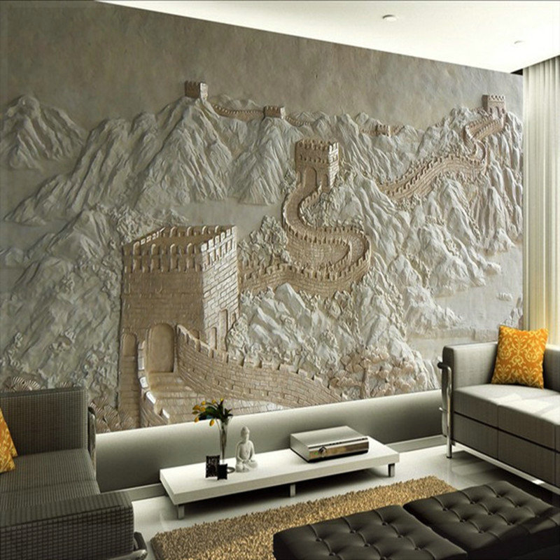 3d wall murals wallpaper great wall landscape for living for D wall wallpaper