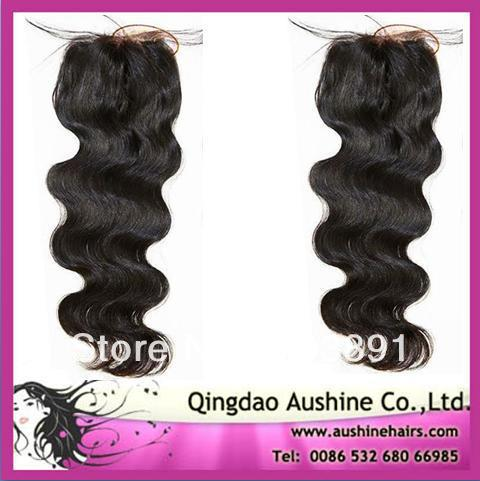 !Hot Selling Body Wave Brazilian Hair Lace Top Closures can mix lengths