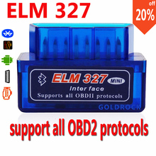 ELM327 with Bluetooth OBD2 Code Reader Super  ELM 327 Car Scanner ELM327 OBDII Bluetooth Auto Adapter limited time sale