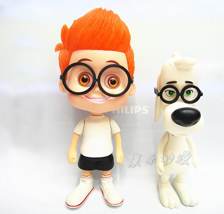 New Arrival Hot Animation Anime Movie Mr. Peabody And Sherman Cute 14CM PVC Figure Toys New In Original Box<br><br>Aliexpress