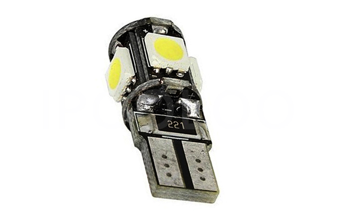 Wholesale Canbus T10 5smd 5050 LED car led Light Canbus W5W 194 5050 SMD Error Free