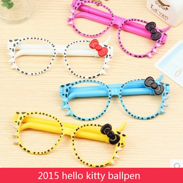 Ballpoint Pens hello kitty cartoon pink white cute pen ball pen stationery 100% high quality 2015 School Supplies 20pcs/lot <br><br>Aliexpress