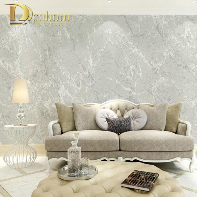 Online buy wholesale wall coverings modern from china wall Grey wallpaper living room