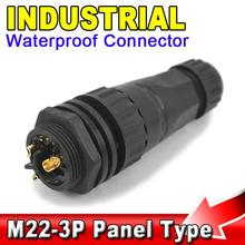 Buy AK 25A M22 IP68 3 Pin Waterproof Connector 3pin Panel Mount Type Industrial Electrical Wire Connector for $4.04 in AliExpress store