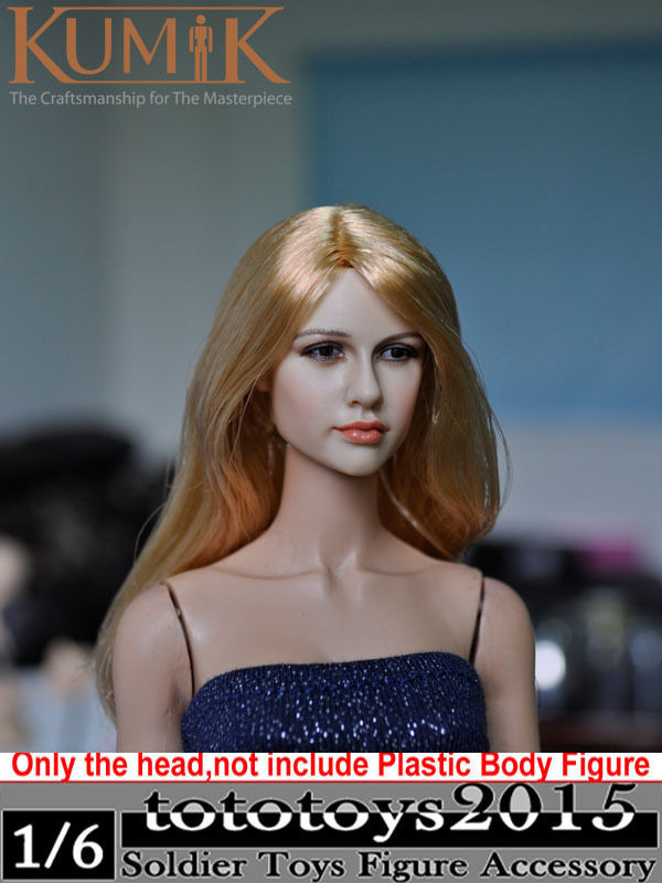 1:6 KUMIK Accessory 12 inch Action Figure CG CY Female Head Sculpt Carving Fit Hottest Toys Phicen Body KM13-25 C - & Dolls Club store