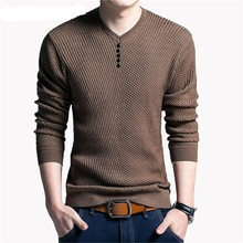 Buy Solid Color Pullover Men V Neck Sweater Men Long Sleeve Shirt Mens Sweaters Wool Casual Dress Brand Cashmere Knitwear Pull Homme for $19.38 in AliExpress store