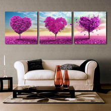 High-grade glass ice painting decorative painting frame painting modern living room bedroom Triptych Giving Tree(China (Mainland))