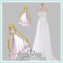 Free shipping! Sailor Moon Princess Serenity Tsukino Usagi Cosplay Costume Wedding Gown lolita for party dress for women/kids