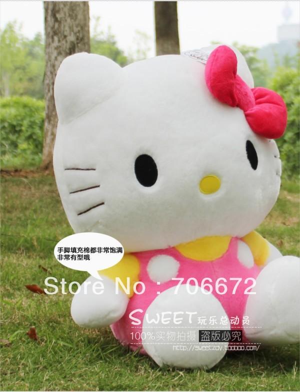 NEW STuffed animal pink hello kitty plush toy 13 inch soft 35cm Toy birthday gift wt96(China (Mainland))