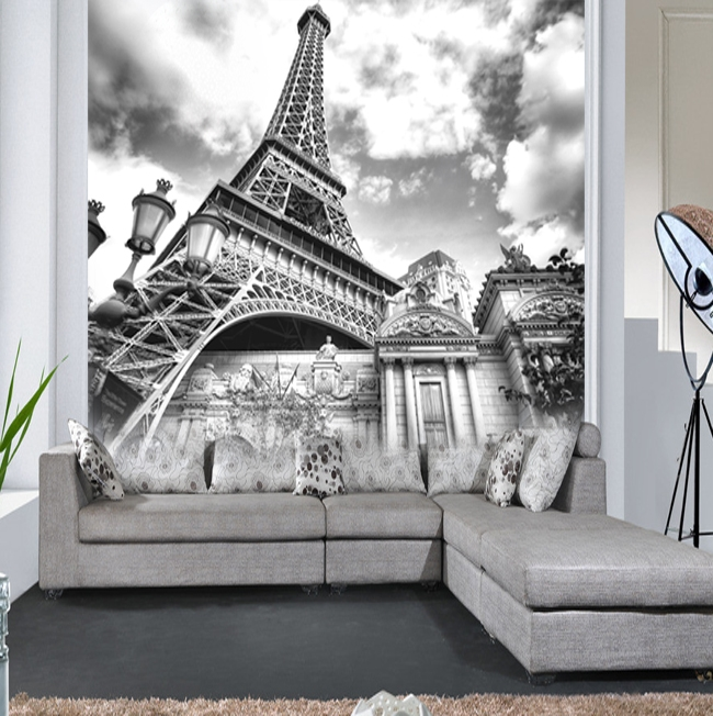 wholesale european style mural wallpaper black and white. Black Bedroom Furniture Sets. Home Design Ideas