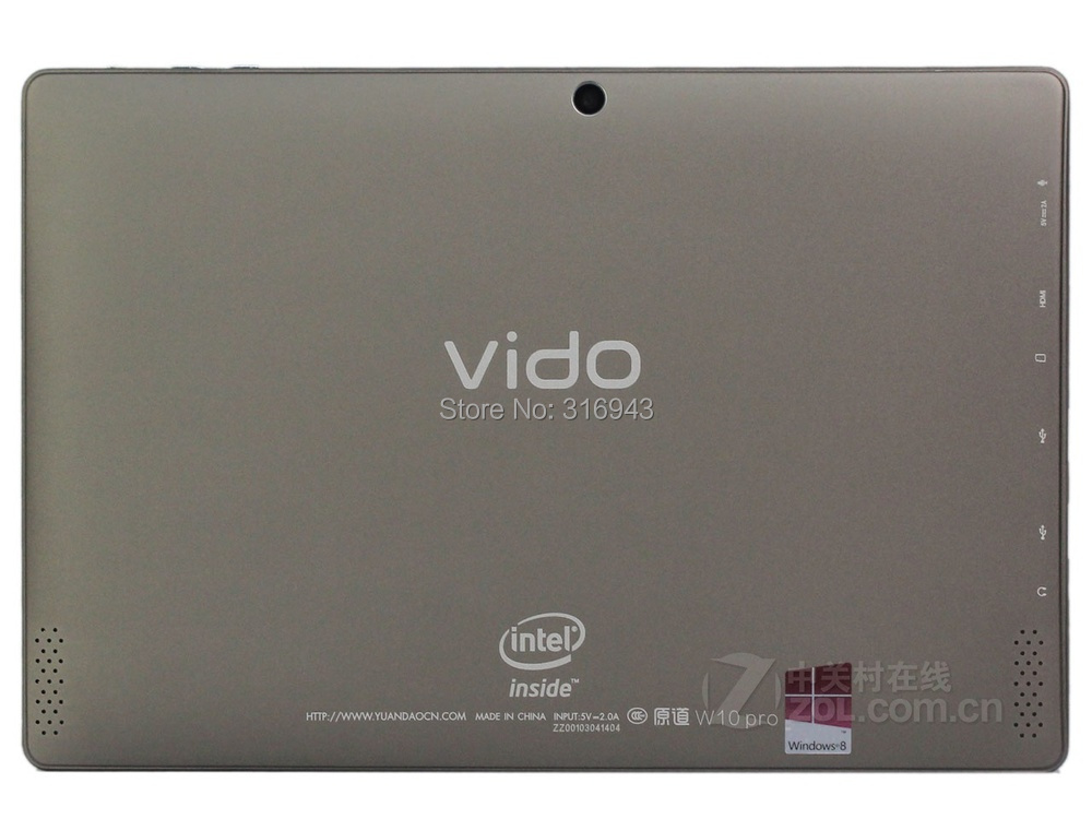 Yuandao Vido W10 pro Quad Core 10 1 inches 1280x800 64GB Windows 8 1 Intel Core