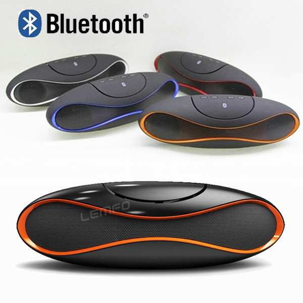 QFX Wireless Bluetooth Speaker TF AUX USB FM Radio with Built-in Mic Hands-free Portable Mp3 Mini Subwoofer Retail Box 2015 New(China (Mainland))