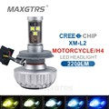 H4 CREE Chip Motorcycle Headlight Far Near Light Conversion Kit Beam 3000LM 28W For Halley Kawasaki