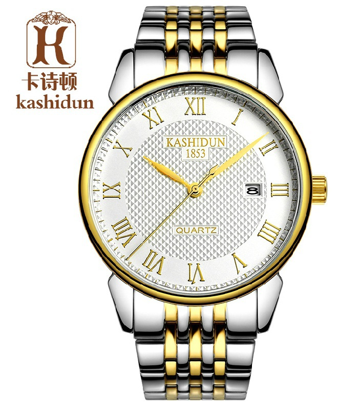Фотография KSD brand hot sale quartz watches fashion men dress wristwatch full stainless steel business watch Roman dial watch K-1853