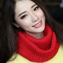 Осень / зима корейски женщин платок водолазка воротники шерсть утолщенной кольцо теплый шарф платок