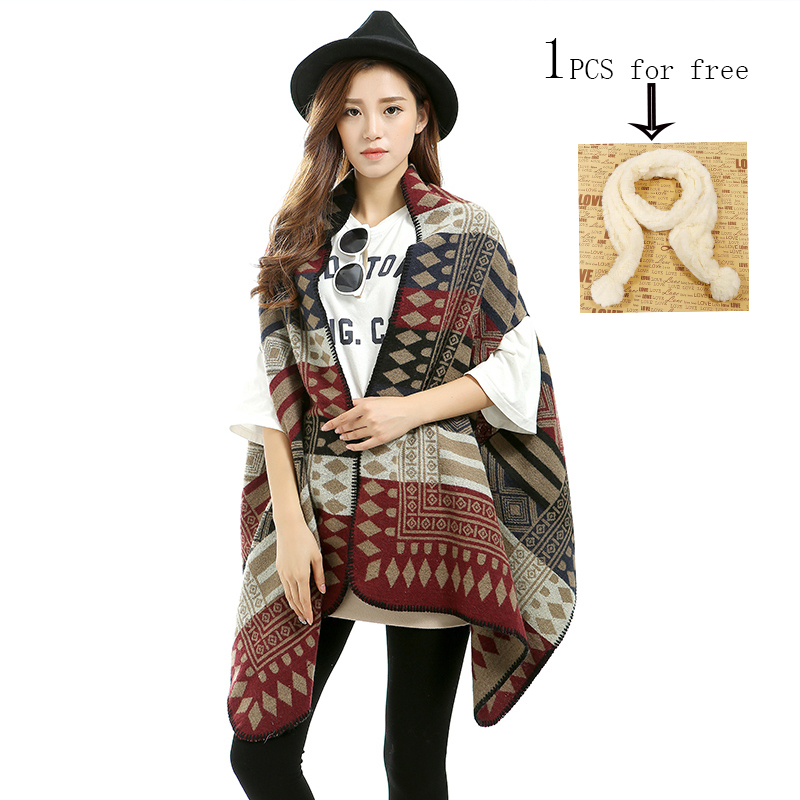 Big Square Scarf High Quality Wool Blend Scarf Fashion Brand Winter Scarf Women Design Pashmina Shawls and Scarves S-010(China (Mainland))