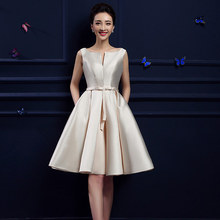 2016 new design A-line short dresses V-opening back cocktail party lace-up dress veatidos de festa Hot sale free shipping(China (Mainland))
