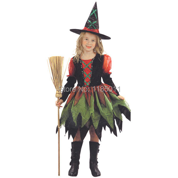 Witch fairy fancy Costume Cosplay Witch fairy fancy dress pretty fantasia girl carnival Halloween costume for Kids ChildrenОдежда и ак�е��уары<br><br><br>Aliexpress