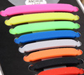 wholesale 16Pc Set 2016 NEW Silicone shoelaces No Tie Shoelace All Sneakers Solid shoe lace