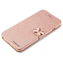 """Luxury Flip Silk Leather Stand Wallet cases for iphone 6 6S 4.7"""" with quality phone Diamond cases for iphone6 wholesale/retail(China (Mainland))"""