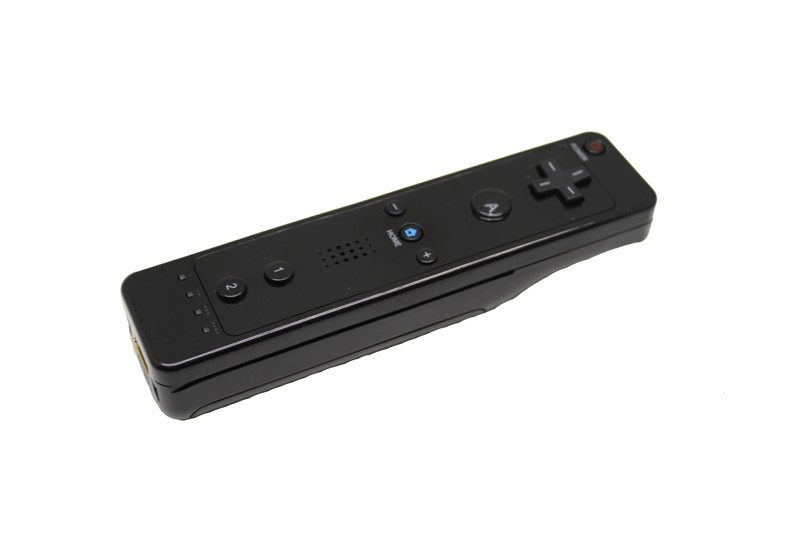 Top quality 1Pcs  black  For Wii mote Remote Controller, for Nintendo WII WiiU Video Games with free shipping