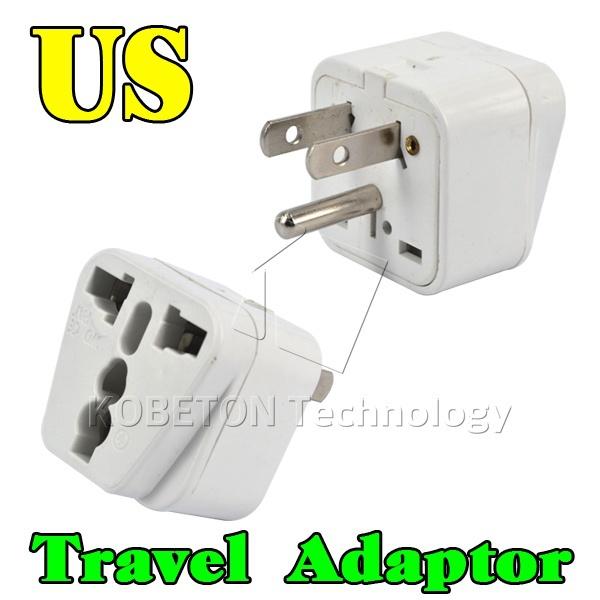 convenient Universal 3 Pin US Plug Travel Adapter Electrical Wall Socket EU AU UK Brazil Italy Jack to US Charger Converter(China (Mainland))
