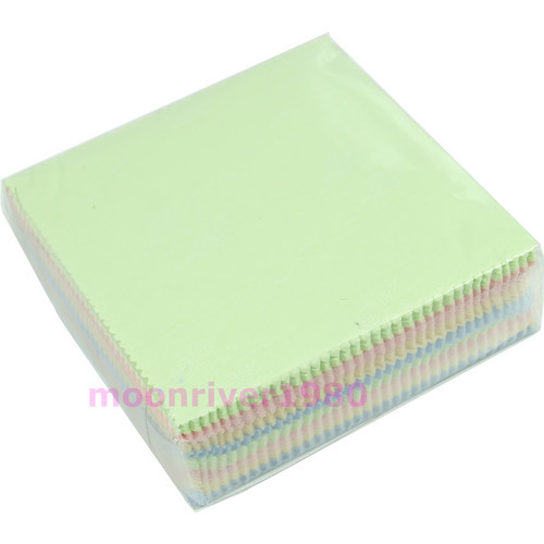 W110New Arrive 100Pcs/lot Microfiber Cleaning Cloth Phone Screen Camera Lens Glasses Square Cleaner(China (Mainland))